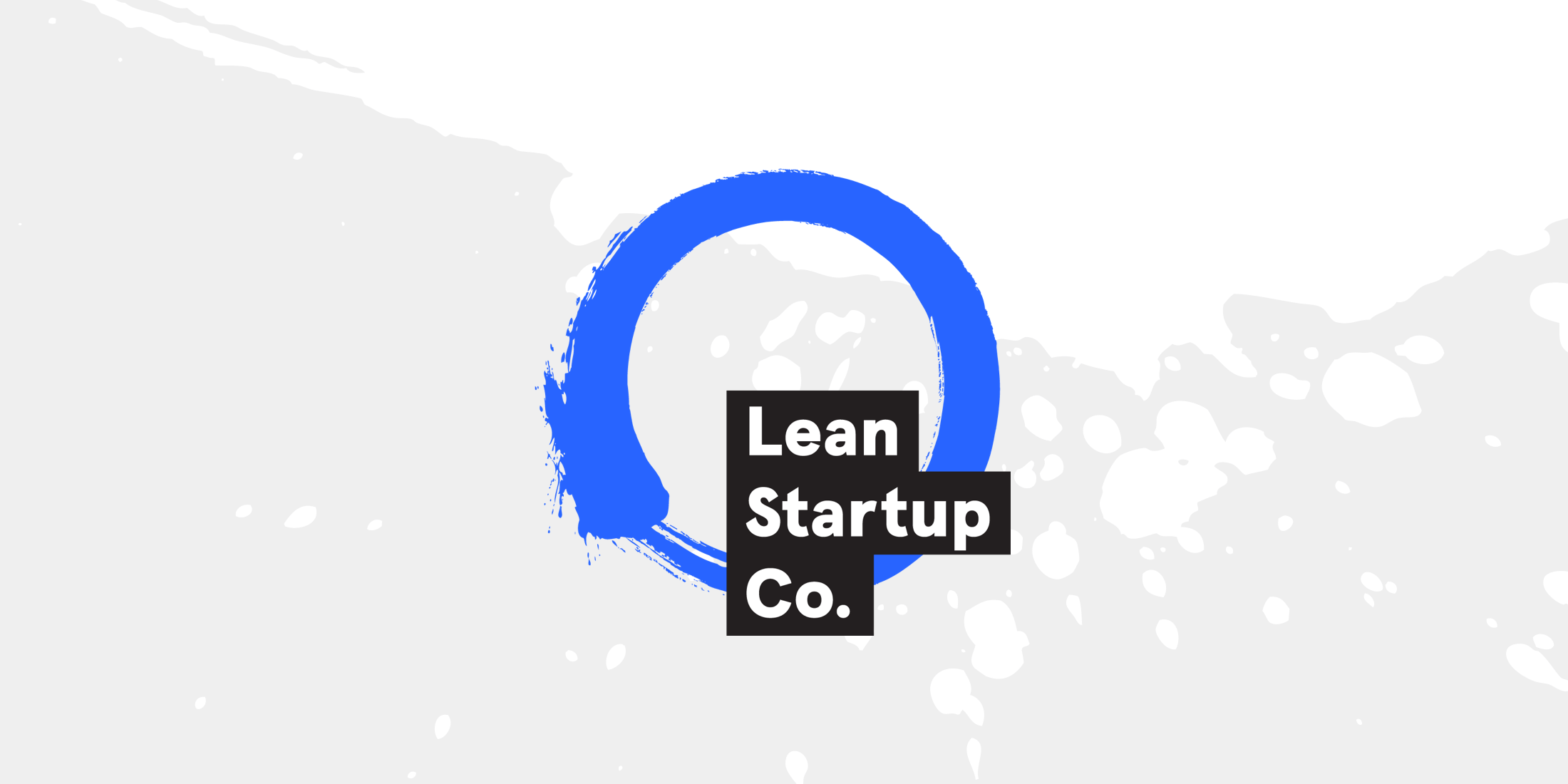 Lean Startup Co. logo, which is a blue enzo